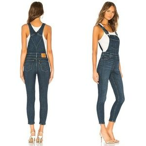 NWT Levis Overall Skinny Denim Jeans